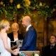 Outdoor wedding ceremony at South Farm wedding venue in Hertfordshire