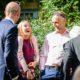 wedding guests enjoying South Farm wedding venue in Hertfordshire