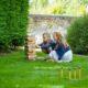 Jenga garden games at South Farm wedding venue in Hertfordshire
