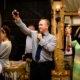 Wedding toast at South Farm wedding in Hertfordshire
