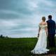 bride and groom at plegdon barns wedding