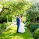 BRIDE AND GROOM AT MICKEFIELD HALL WEDDING VENUE IN HERTFORDSHIRE